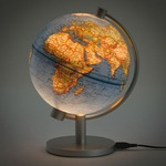 Image of Illuminated Blue Ocean Globe - 5 inch. Click on this image for more info.