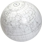 Image of Inflatable Writable Globe - 24 inch. Click on this image for more info.