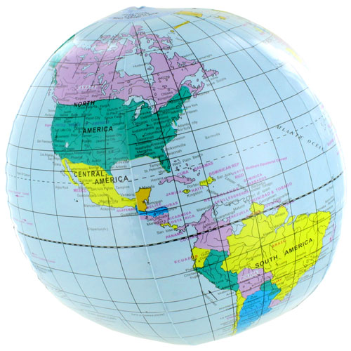 Inflatable Globe World Map. Inflatable World Globe  12in Image one by xUmp com