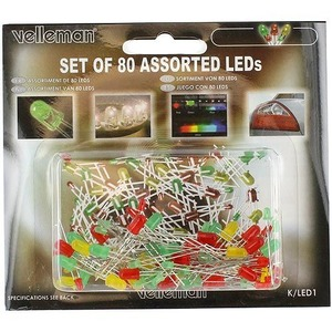LEDs Set - Assorted 80pcs - Image One