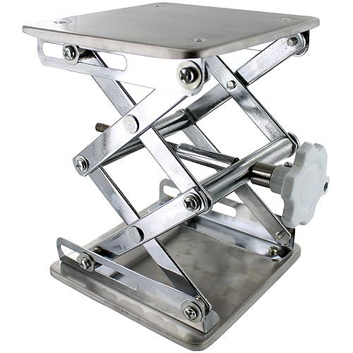 Laboratory Scissor Jack - Stainless Steel - Image one