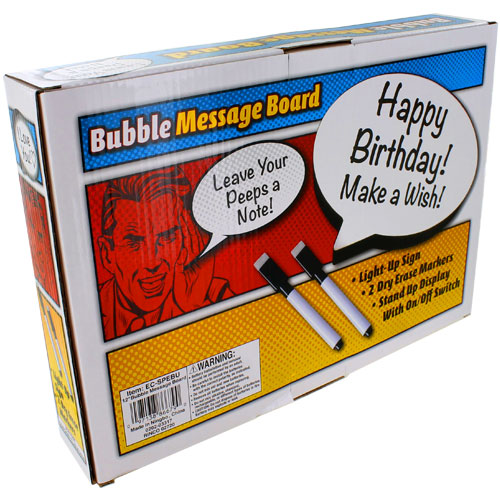 Light-Up Speech Bubble Message Board - Image two