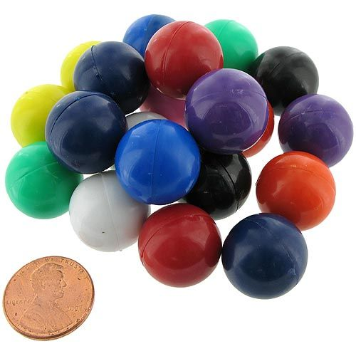 20 Magnet Marbles - Solid Color - Image one