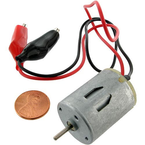 Mini DC Motor with Leads - Image one