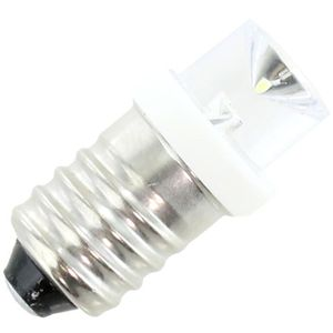 Mini LED Conelight Bulb - E10 3VDC White - Image One