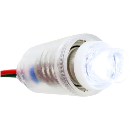 Mini LED Conelight Bulb - E10 3VDC White - Image two