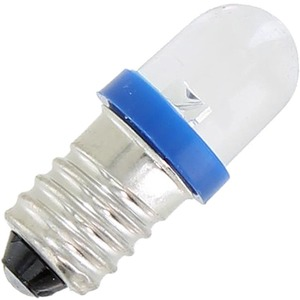 Mini LED Light Bulb - Blue - 3V DC E10 - Image One