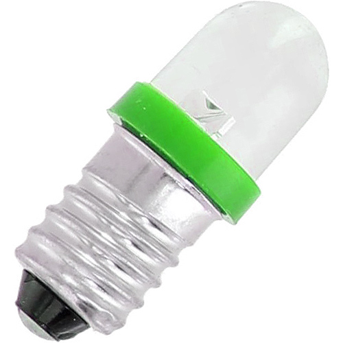 Mini LED Light Bulb - Green - 3V DC E10 0.06W - Image one