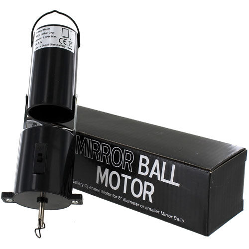 Mirror Ball Spinning Motor - Battery Power - Image one