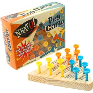 Peg Game - Wooden Triangle Puzzle - Image One