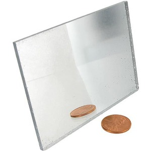 Plexiglass Mirror - 3.5x2.5 inches - For Optics Experiments and School Craft Projects - Image One