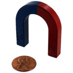 Photo of the: Red-Blue Ceramic Horseshoe Magnet