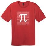 Red Pi Mathematics T-Shirt.
