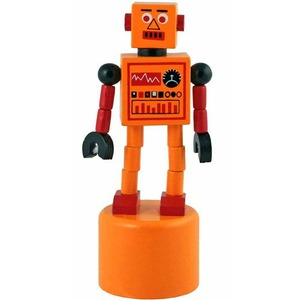 Robot Finger Push Puppet - Image One