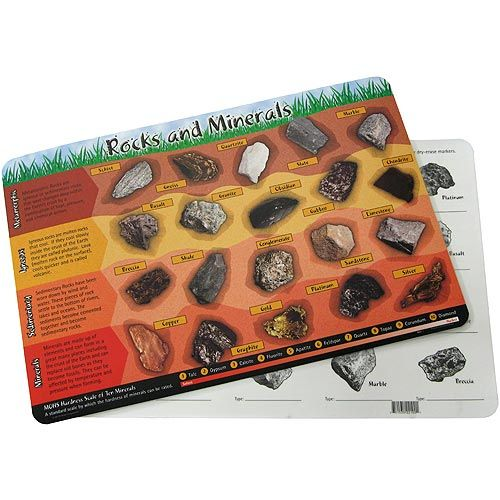 Rocks and Minerals Placemat - Image one