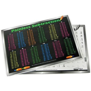 Subtraction Tables Placemat - Image One