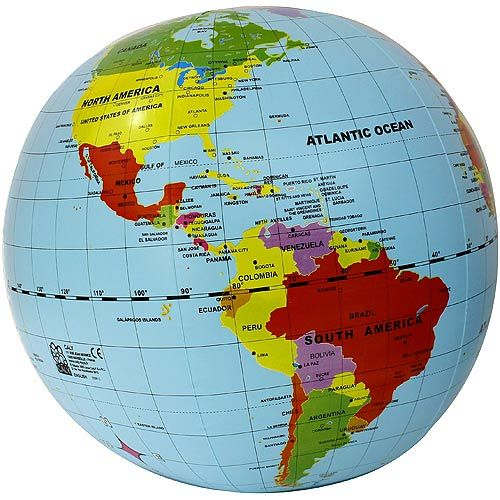 Giant 20 inch Inflatable Globe - Image one