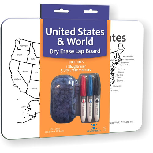 USA/World Dry Erase Lap Board - Image one