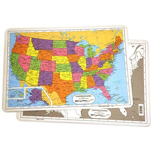 U.S. Map Placemat - Image one