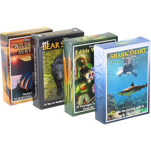 Wilderness Survival Cards 4-pack Set - Image one