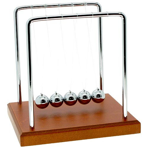 Wood Grain Newtons Cradle - Image one