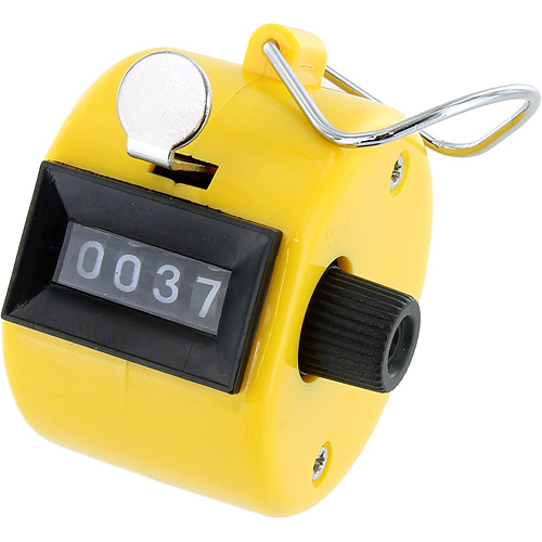 Yellow Hand Tally Counter - Image one