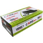 Black Medical Nitrile Gloves - Box of 100 - Large.