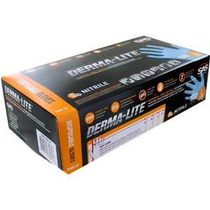 Derma-Lite Nitrile Exam Gloves - LARGE - Box of 100 - Image One