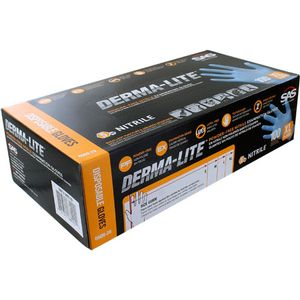 Derma-Lite Nitrile Exam Gloves - XTRA LARGE - Box of 100 - Image One