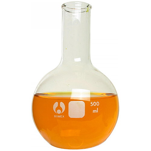 Glass Boiling Flask - Round Bottom - 500ml - Image one