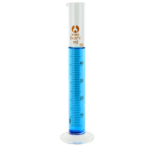 Glass Graduated Cylinder - 50ml - Image one