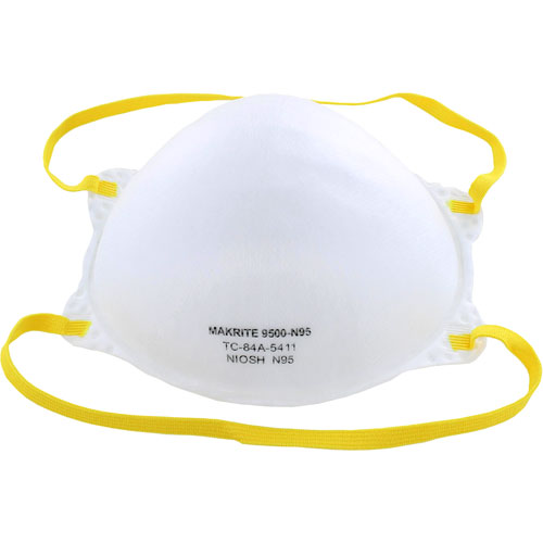 N95 FDA NIOSH Approved Makrite 9500 Respirator Face Masks - pack of 20 - Image one