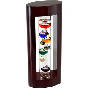 Mini Cherrywood Galileo Thermometer - Image One