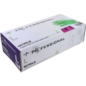 Medline PRO Nitrile Exam Gloves - LARGE - Box of 100 - Image One