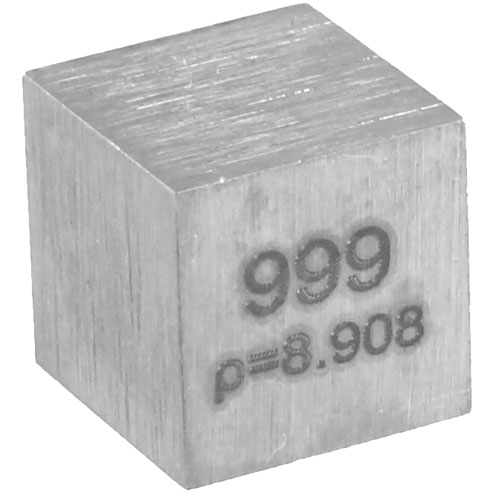 Nickel Metal Cube - 10mm 99.95% Pure  - Image two