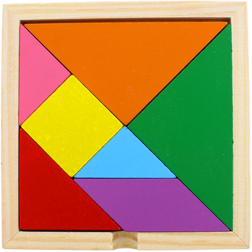 Wooden Tangram Puzzle - Image one