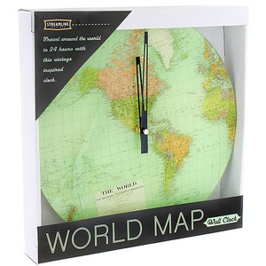 World Map Wall Clock - Image One