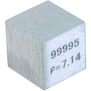 Zinc Metal Cube - 10mm 99.95% Pure - Image two