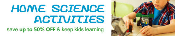 Save up to 50% OFF cool science kits, toys and games.