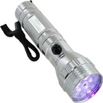 Photo of the: 10 White + 5 UV LED + Red Laser Flashlight