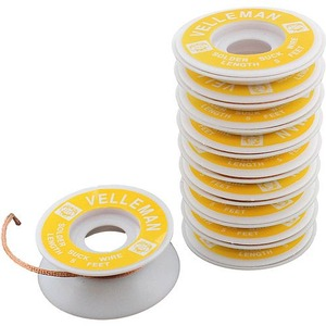 Photo of the: 10-pack Desoldering Wick - 10 x 5ft