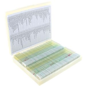 Photo of the: 100 Prepared Biology Microscope Slides Set