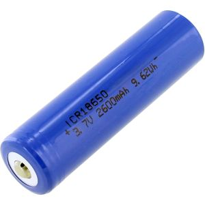 Photo of the 18650 Blue Lithium-Ion Rechargeable Battery - 3.7V 2600mAh