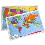 Photo of the: 2-Pack World Placemat + USA Placemat