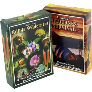 Photo of the 2-Pack Edible Wilderness and Survival Cards