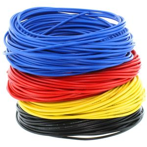 Photo of the: 24AWG Stranded Copper Wire - Four Colors - 10m each