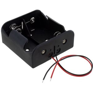 Photo of the: 2 x D Battery Holder with Leads - 3V