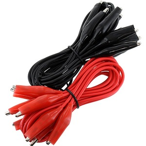 Photo of the: Alligator Cords - 10 pack - 2ft Red/Black Set