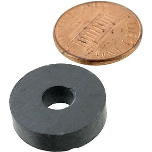 Photo of the 3/4 inch Ring Levitation Magnet - 1/4 hole