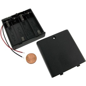 Photo of the: 4 x AA Battery Holder with Switch and Leads - 6V